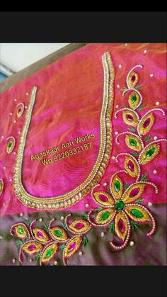 Peacock Blouse Designs, Choli Blouse Design, Best Blouse Designs, Pattu Saree Blouse Designs, Hand Work Blouse Design, Simple Blouse Designs, Dress Neck Designs, Embroidery Monogram Fonts, Embroidery Neck Designs