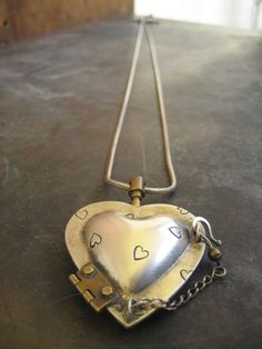 »☆Elysian-Interiors ♕Simply divine #jewelry ~ Thomas Mann sterling and bronze chamber heart $275.00