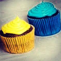 Cupcakes duo cores!