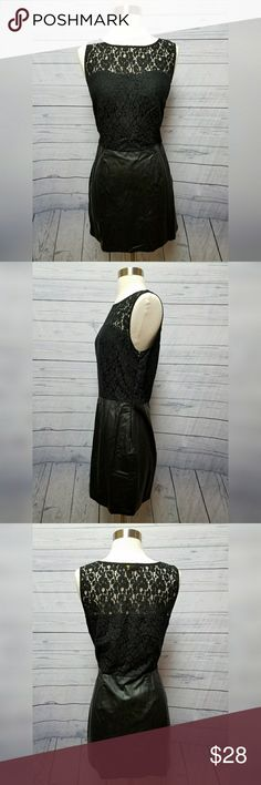 Black lace & leather sleeveless dress Jack by BB Dakota black lace & leather sleeveless dress. Fitted, zips down the side. Women's size 10. Excellent used condition. BB Dakota Dresses