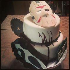 "Friday the 13th cake! ""Sweet Sixteen"" horror birthday cake"
