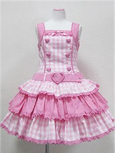 Vestido Lolita doce Xadrez Kawaii ~ Maiden Sem Mangas Atração suscinto mesmo ~ Feliz Emo   Roupas, calçados e acessórios, Roupas femininas, Vestidos   eBay!
