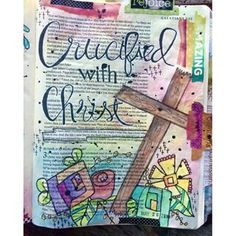 Reflecting on Holy Week with Bible Journaling Bible Study Tips, Bible Study Journal, Art Journaling, Bible Art, Bible Quotes, Bible Verses, Die To Self, Bible Doodling, Illustrated Faith