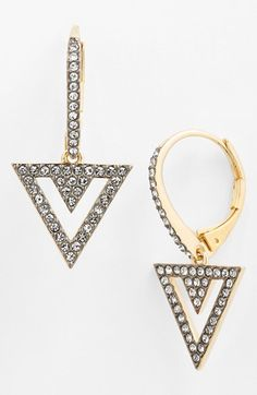 Nadri 'Nested' Pavé Drop Earrings available at #Nordstrom.  In love with this new line from Nadri!