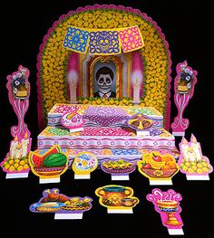 foldout ofrenda with punch-out altar items