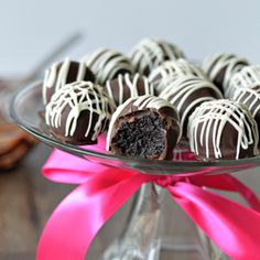 Four ingredients are all you need for these decadent dessert truffles.