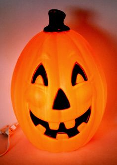 "24"" General Foam Plastics Halloween Pumpkin Light-Up Blow Mold Jack-O-Lantern"
