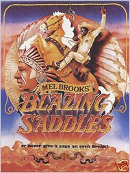 Blazing Saddles Poster 1974. Warner Brothers.