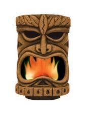 Flaming Tiki Head Decoration-Party City