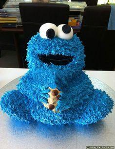 Cookie Monster Cake - avec le même moule que le panda ?