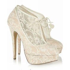 Sexy Lace Upper Platform Stiletto Heels Prom