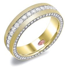 Designer Engagement Rings from DemarcoJewelry.com        Available in White or Yellow Gold 18KT and Platinum. 2.03 RD    Unmatched craftsmanship featuring timeless designs and eternal elegance.  The Gents collection also incorporates our unique pink diamond signature with  every single one of our rings, symbolizing that hidden, unspoken emotion and  feeling one carries in their heart about their significant other.