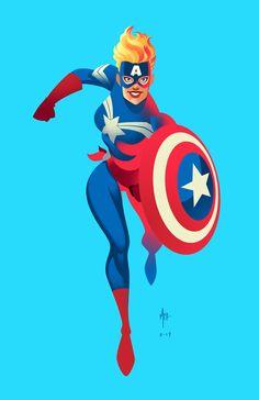 CAROL DANVERS Captain America on Behance