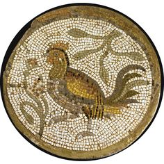 A BYZANTINE MOSAIC ROUNDEL WITH ROOSTER, CIRCA 5TH/6TH CENTURY A.D.