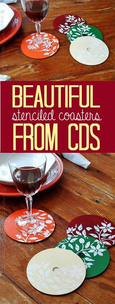 How to make beautiful coasters from recycled CDs and DVDs!