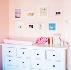 This is what we're doing, too. IKEA Hemnes dresser http://www.ikea.com/us/en/catalog/products/00067830/ with changing pad on top and a basket with diapering supplies and toys in it beside.