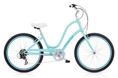 Original 7D | Electra Bikes, Polar Blue, 7-speed, flat foot