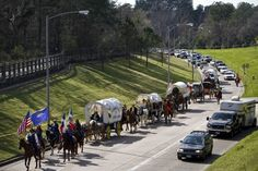 You get stuck behind the trail riders on your way to work because you forgot they were coming to town. --Michael Paulsen / Houston Chronicle
