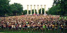 Bid Day at the columns.