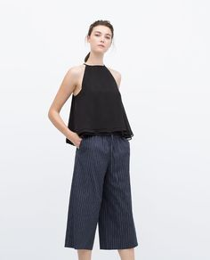15ff687c01c Image 1 of HALTER NECK TOP from Zara Wide Leg Trousers