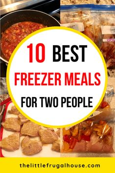 My top 10 best freezer meals for two people, to save you time and money! These make ahead freezer meals are great for the crockpot, skillet, or microwave. 10 Best Freezer Meals for Two 10 Best Freezer Meals for Two - The Little Frugal House Budget Freezer Meals, Make Ahead Freezer Meals, Freezer Cooking, Frugal Meals, Cooking Recipes, Freezer To Crockpot Meals, Easy Cooking, Cooking Ideas, Kid Meals
