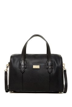 614653341 Cara Embossed Weave Leather Dome Satchel Sponsored by Nordstrom Rack.