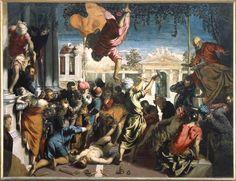 Tintoretto. Il miracolo di San Marco o Il miracolo dello schiavo (1548), olio su tela (415 x 541cm). Venezia, Gallerie dell'Accademia