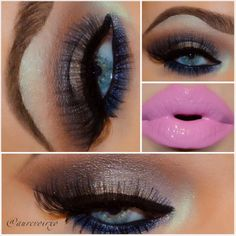 .@aurevoirxo | Smokey Silver Makeup Look Glasser - Apply I used @motivescosmetics @Loren Cline...