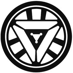 Marvel Iron Man Arc Reactor decal that comes in multiple sizes and colors.