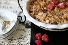 A Raspberry Crumble offers the luscious flavor of a fresh fruit pie without the fuss of making a crust.