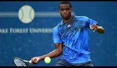 Frances Tiafoe in his first ATP match win, Winston Salem 2015.  #Tiafoe #FrancesTiafoe #tennis
