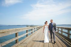 Bride and Groom at Sidney Pier