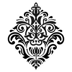 Gorgeous damask stencil, this is the largest size of this image Approx stencil size x Made from the highest quality Mylar® opaque plastic, reusable time and time again. Damask Stencil, Stencil Patterns, Stencil Painting, Stencil Designs, Large Painting, Pattern Art, Pattern Design, Craft Stencils, Paint Stencils