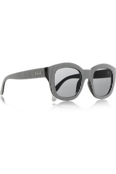 d70fbf6ffb Le Specs - Runaways striped square-frame acetate sunglasses