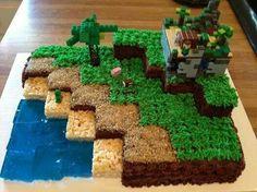 Minecraft cake!!!