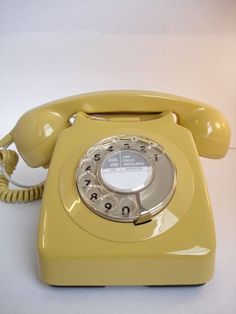 Remember Harvest Gold appliances? This vintage rotary phone shows us this stylish color that was popular in the 70's.
