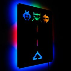 Space Invaders Wall Light