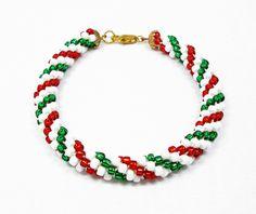 Kumihimo Christmas Bracelet
