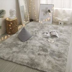 Grey Carpet Tie Dyeing Plush Soft Carpets For Living Room Bedroom Anti slip Floor Mats Bedroom Water Absorption Carpet Rugs-in Carpet from Home & Garden on AliExpress Living Room Carpet, Bedroom Carpet, Rugs In Living Room, Living Room Bedroom, Rug For Bedroom, Fluffy Rugs Bedroom, Dorm Room Rugs, Soft Grey Bedroom, Bedroom Sofa