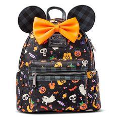 Minnie Mouse Halloween, Disney Halloween, Disney Parks, Fashion Bags, Fashion Backpack, Fashion Ideas, Minnie Mouse Backpack, Halloween Prints, Mini Backpack