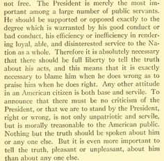 From 'SEDITION, A FREE PRESS, AND PERSONAL RULE May 7, 1918' by President Theodore Roosevelt.   NOTE: the President is supposed 'to render loyal, able, and disinterested service to the Nation as a whole'.  That's 1,2,3 strikes Trump! And he's OUT... as we patriots lead the impeachment!
