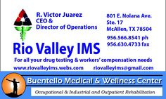 Are you a provider that has a patient in need of a Work Hardening Program?  Call Rio Valley IMS at (956)566-8541 to schedule your patient for an FCE and submit for approval for the program.  Our providers are approved in all major workers compensation insurance networks.