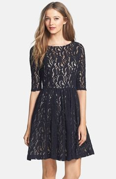 Plenty by Tracy Reese 'Estella' Lace Fit & Flare Dress (Regular & Petite) - dress for pear bodyshape #pearbody