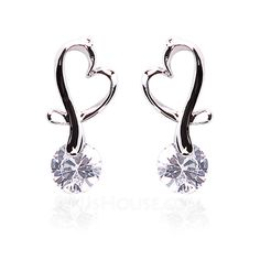 Earrings - $9.49 - Drop Earrings Party Alloy Rhinestone Earrings With Silver (097020226) http://jjshouse.com/Drop-Earrings-Party-Alloy-Rhinestone-Earrings-With-Silver-097020226-g20226