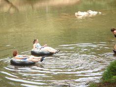 Relaxing on the Coosawattee River in Ellijay, GA.