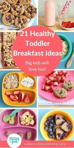 Serve up a healthy kids breakfast no matter how busy the morning with these easy fun and super yummy toddler breakfast ideas These are perfect breakfasts for babies toddlers AND big kids - even picky eaters Healthy Toddler Breakfast, Healthy Toddler Meals, Toddler Lunches, Healthy Breakfast Smoothies, Kids Meals, Toddler Food, Breakfast Ideas For Toddlers, Breakfast Kids, Super Healthy Kids