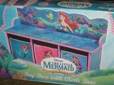 Disney Little Mermaid Toy Box with Cloth Bins