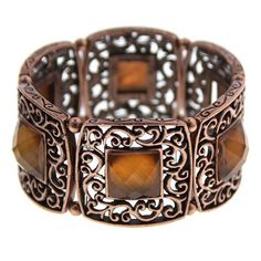 "Fluidity Copper & Amber Hues Stretch Bracelet 1928 Jewelry. $29.40. Measures: 2 1/4""L X 1 1/4""W X 7 1/2 "" CIR. TIMELESS. Save 30%!"