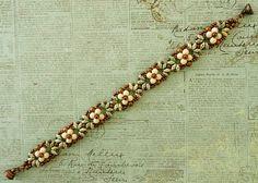 Linda's Crafty Inspirations: Bracelet of the Day: Eclipse Bracelet - Green & Copper