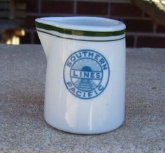Vintage Southern Pacific Lines Railroad Individual Restaurant Creamer | eBay